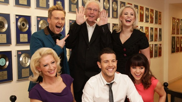 Pete Waterman with Steps (left to right) Faye Tozer, Ian &quot;H&quot; Watkins, Lee Latchford-Evans, Claire Richards (top) and Lisa Scott-Lee
