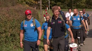 Walking with the Wounded: Prince Harry joins injured veterans on Walk of Britain