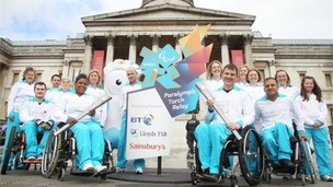 Paralympic torch