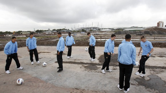 The site of Manchester City's academy - before it was built.