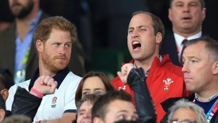 Rugby World Cup: Prince Harry laughs off 'that look' at England vs Wales game