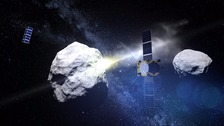 AIM observes asteroid impact