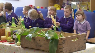 Pupils at Mile Cross Primary learn about fruit and vegetables
