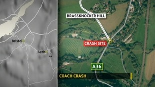 Crash site map