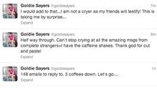 Goldie's tweets