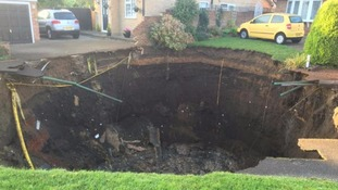Huge sinkhole opens up in St Albans street