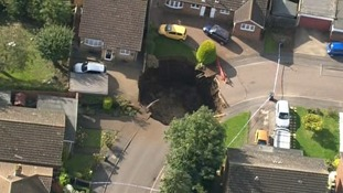 In pictures: Massive sinkhole opens up in Hertfordshire street