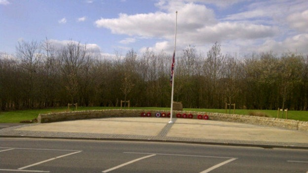 Flag flying at half mast