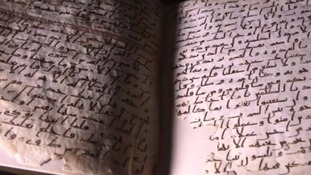 Historic Qu'ran manuscript goes on public view