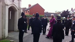 Colleagues form guard of honour