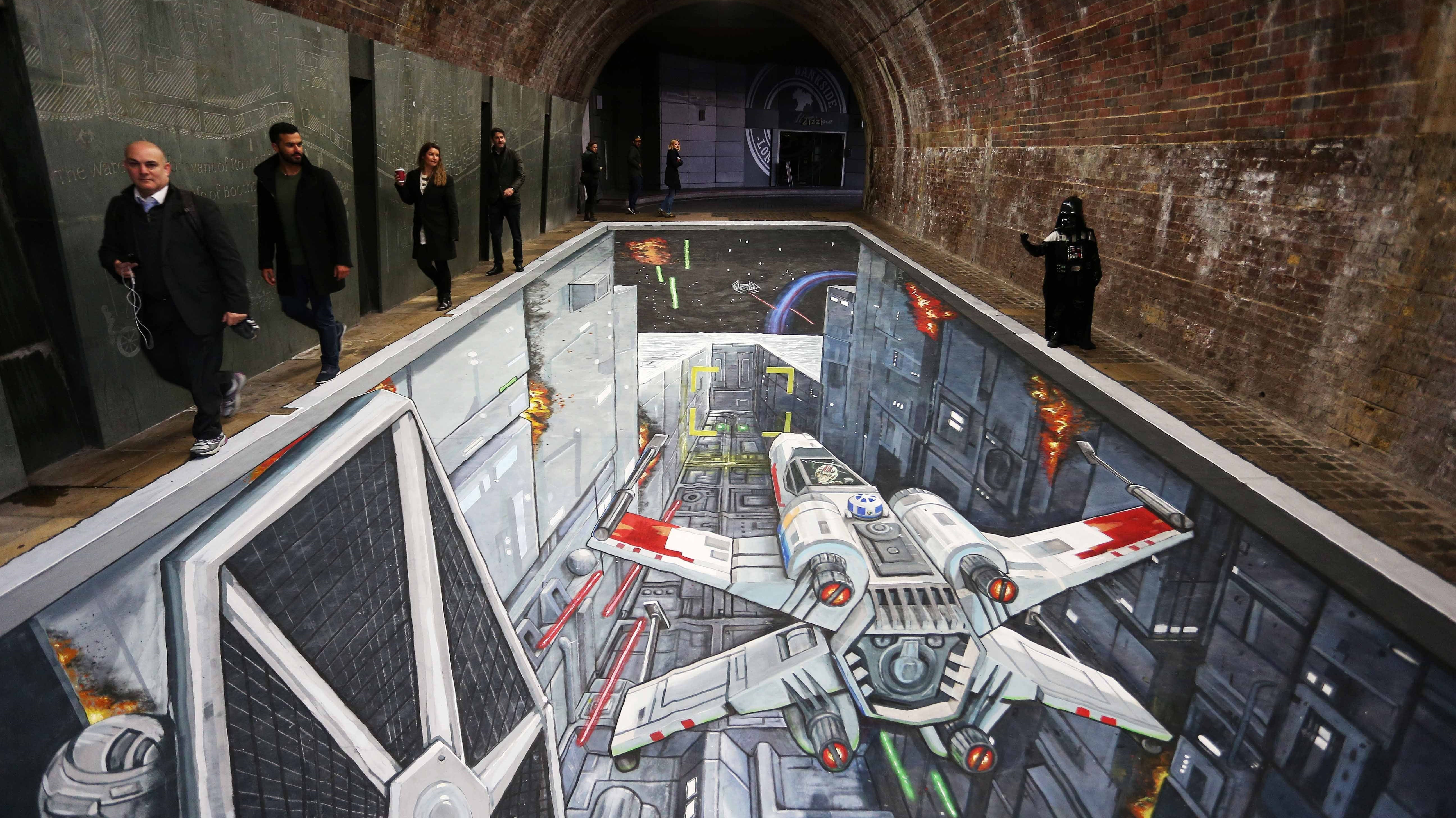Star Wars Death Star Hidden Under Southwark Bridge
