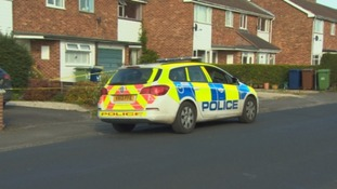Police at murder scene in Kingston Road, Tewkesbury