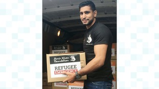 Boxer Amir Khan wants to do more to aid refugees after trip to Greece