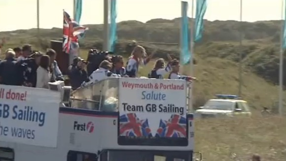 Olympic sailors bus tour