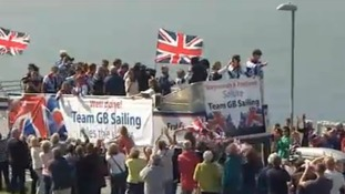 Weymouth welcome for Team GB sailors