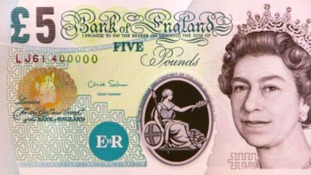 A mysterious benefactor has been leaving dozens of envelopes containing £5 pound notes in shops, parks and even toilets for people to find.