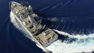 HMS Echo home after 19 months away