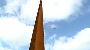 Bomber Command memorial spire unveiled in Lincolnshire