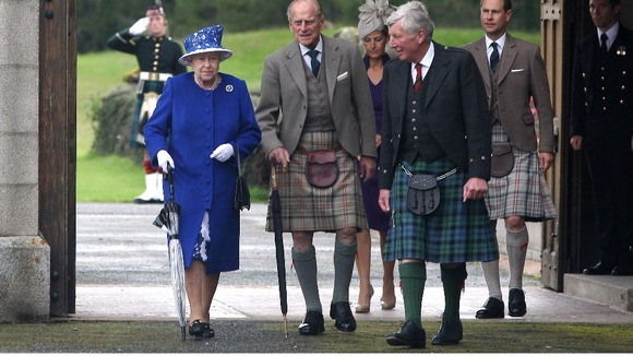 The Queen and the Duke of Edinburgh pictured with the Earl and Countess of Wessex on the 7th August