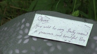 Flowers were left at Bradninch where Oliver was injured