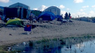 Tents, makeshift shelters and piles of litter: the scene in the Calais 'Jungle'