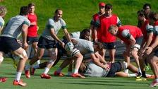South Africa training in Gateshead.