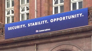 The Tories' new slogan ahead of this week's conference.
