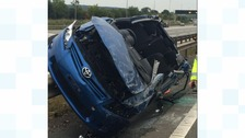 Two lanes closed after M6 collision