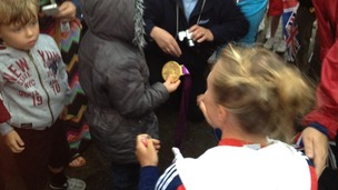 Kat Copeland and her gold medal