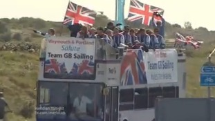 Olympic sailors tour Weymouth