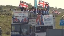 Team GB sailors on open-top bus tour