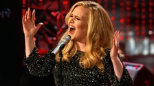 adele performs