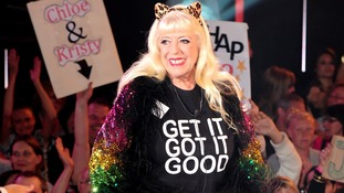 Julie Goodyear enters the Celebrity Big Brother House