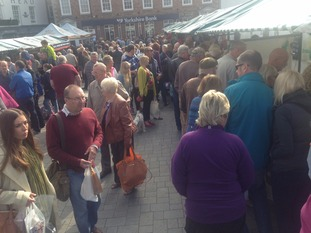 Crowds at Beverley Food Festival