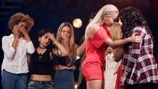 Rita Ora was booed after unseating Karen Mav, right.