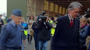 Phillip Hammond visits RAF Waddington