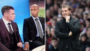 Thierry Henry's comical reaction to Brendan Rodgers' sacking sent Twitter into overdrive