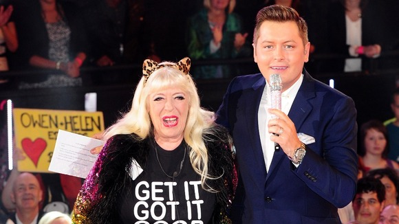 Julie Goodyear, with Celebrity Big Brother's host Brian Dowling