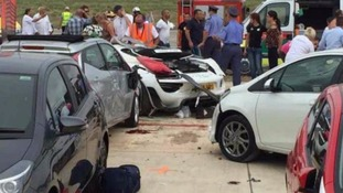 Dozens injured as Porsche ploughs into crowd at car show