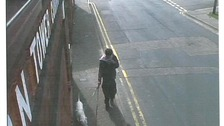 CCTV shows Jake Sewell and his dog