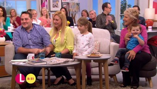 Mathew and Saera on ITV's Lorraine