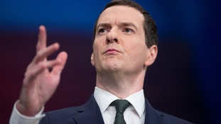 George Osborne speaking at the Conservative Party conference
