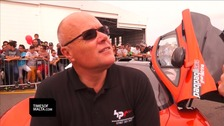 British millionaire Paul Bailey speaking shortly before the crash
