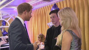 Jamie meets Prince Harry at the WellChild Awards on Monday evening.