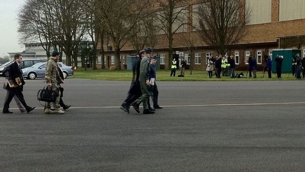 Defence Secretary visits RAF Waddington to watch air security training exercise