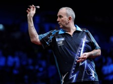 Phil Taylor at the oche