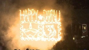 A fire display to celebrate Diwali in Leicester last year