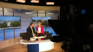 ITV News Anglia is currently being broadcast from a temporary studio.