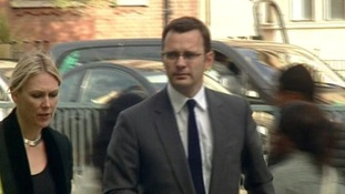 Andy Coulson arrives at Westminster Magistrates' Court
