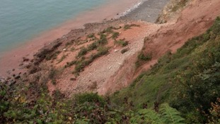 Warnings after massive landslide near Lynmouth